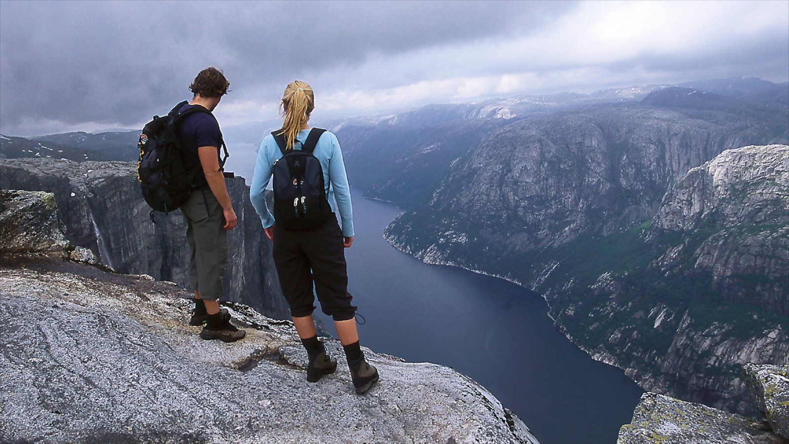Kjerag which includes views, mountains and hiking or walking