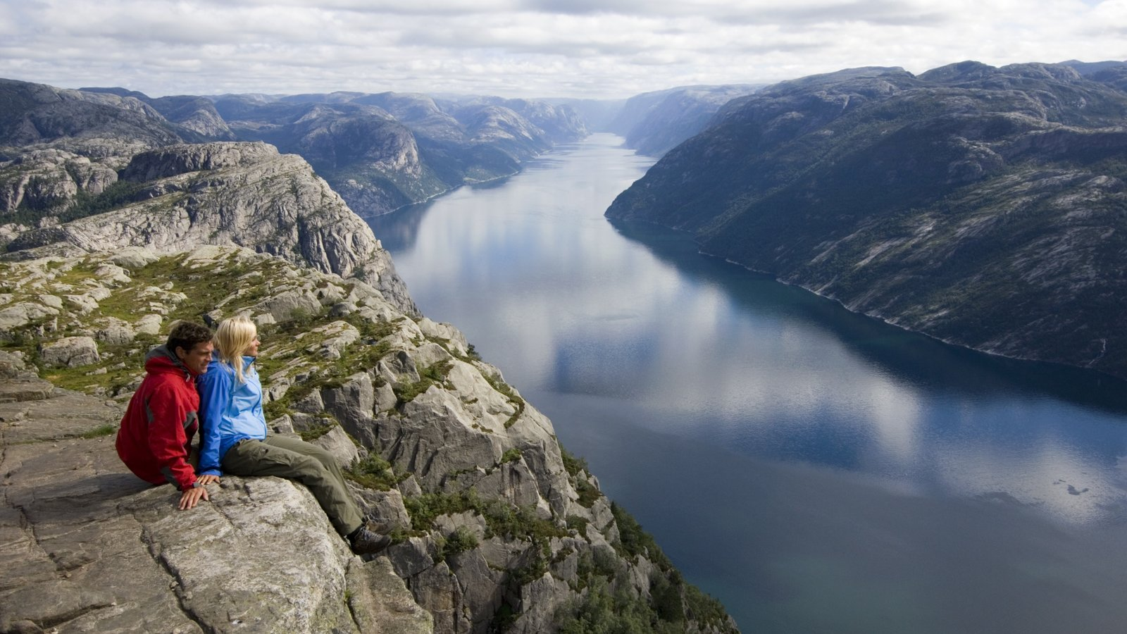 Preikestolen which includes mountains, views and hiking or walking