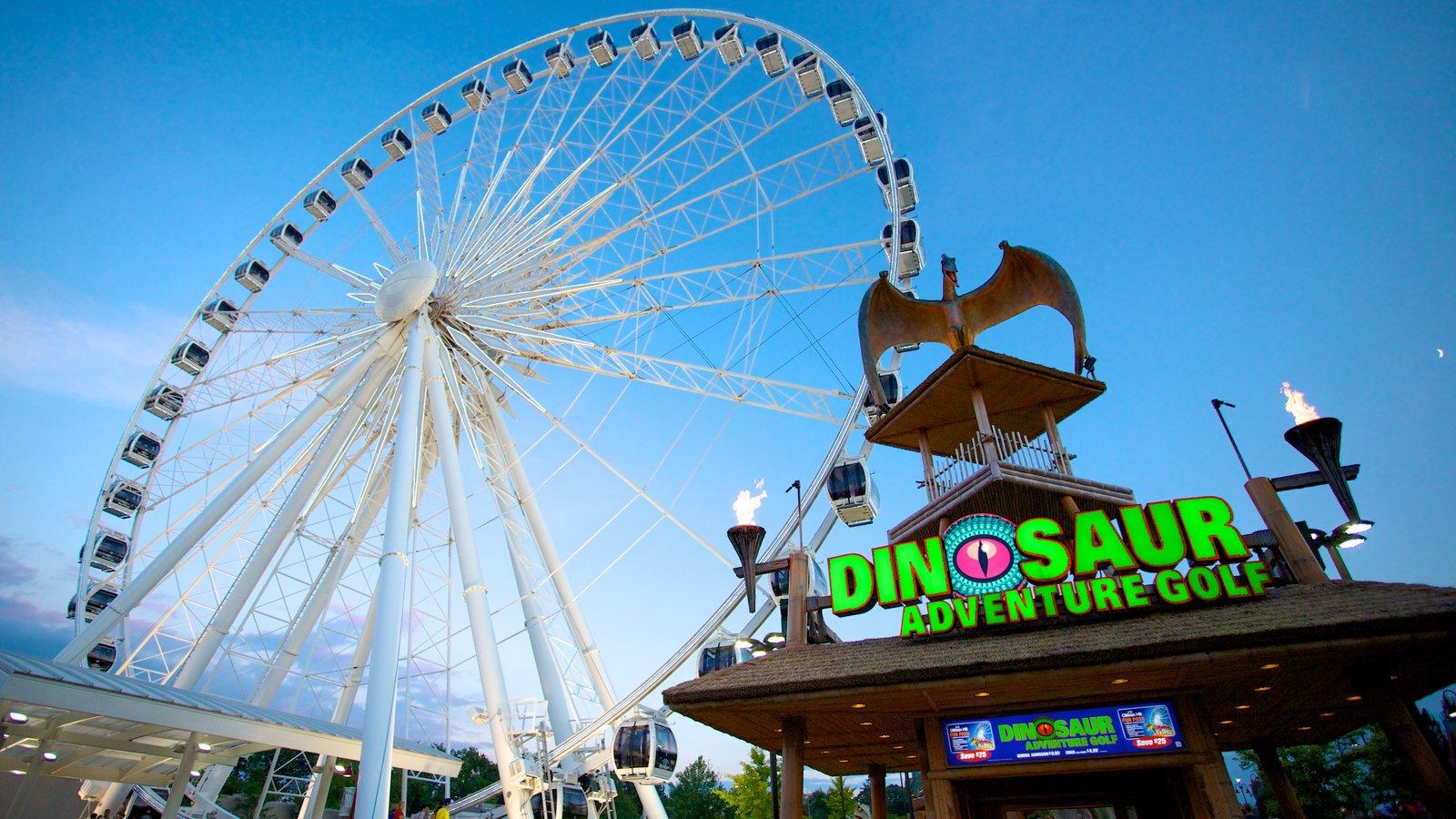 Niagara SkyWheel mostrando sinalização e passeios