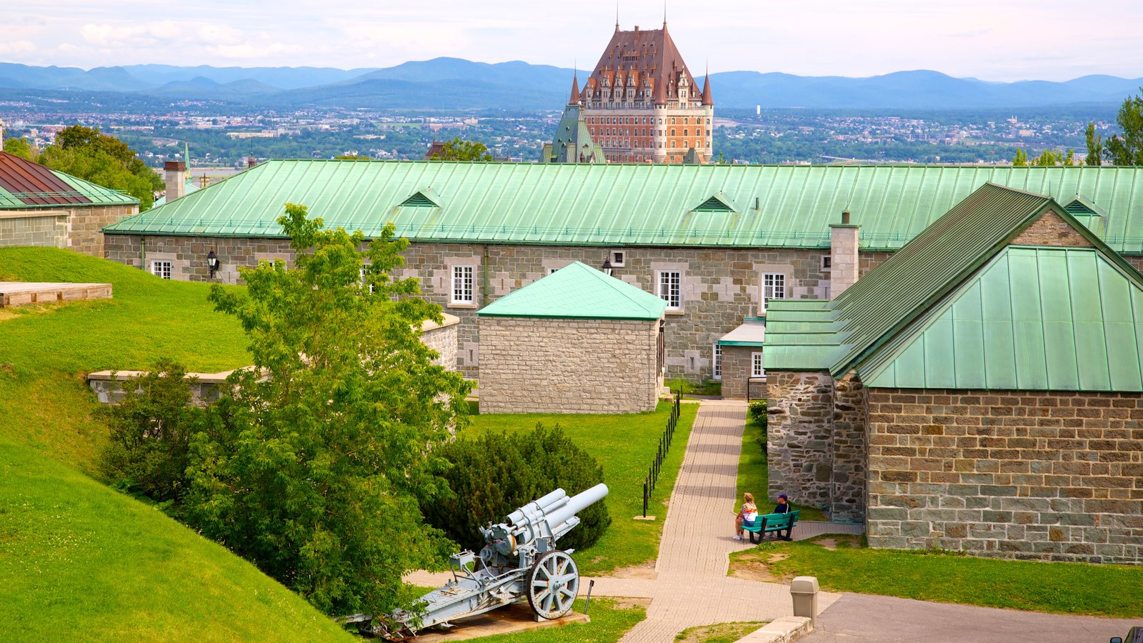 Citadelle of Quebec showing heritage elements, heritage architecture and military items