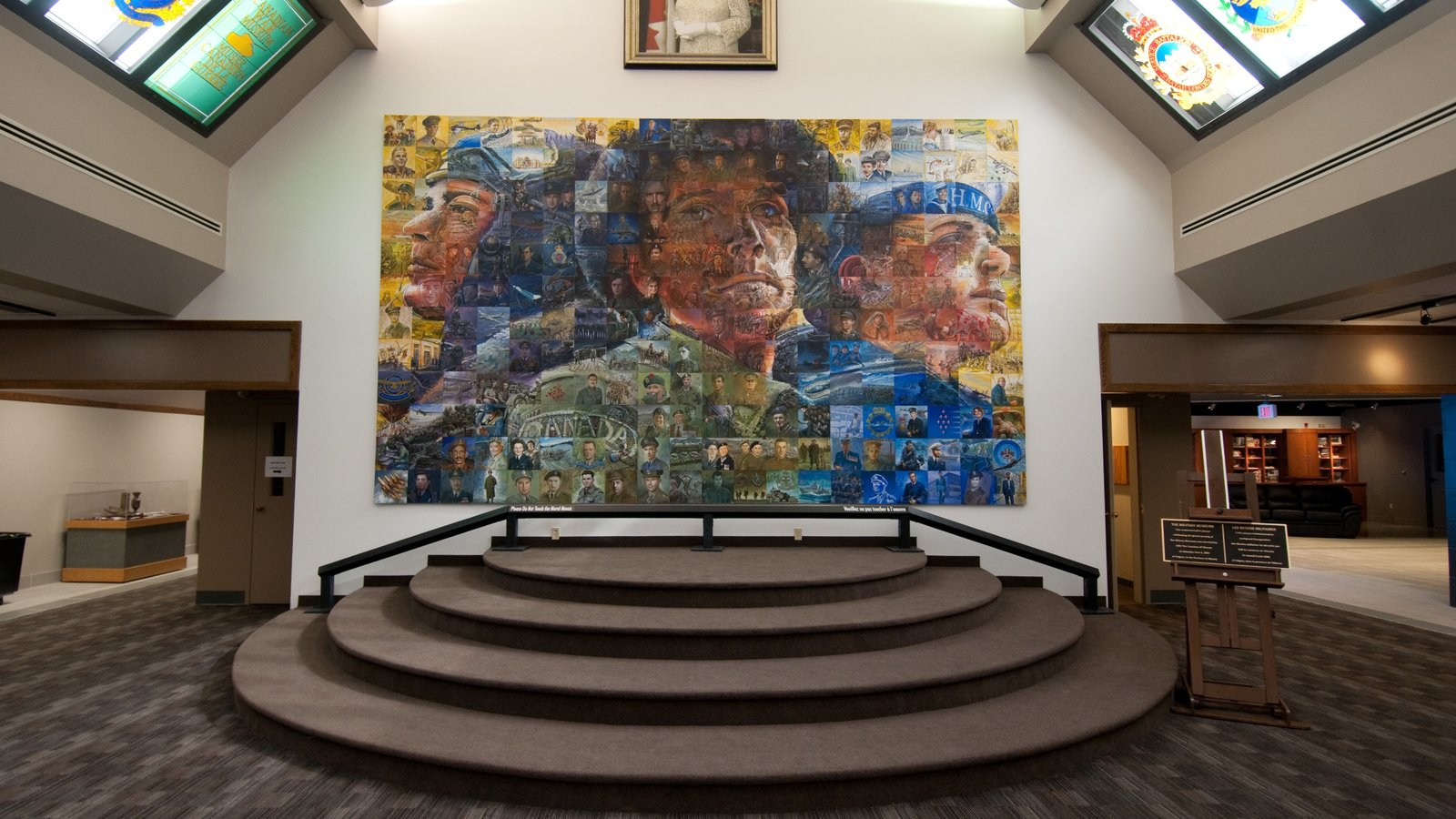 The Military Museums which includes art and interior views