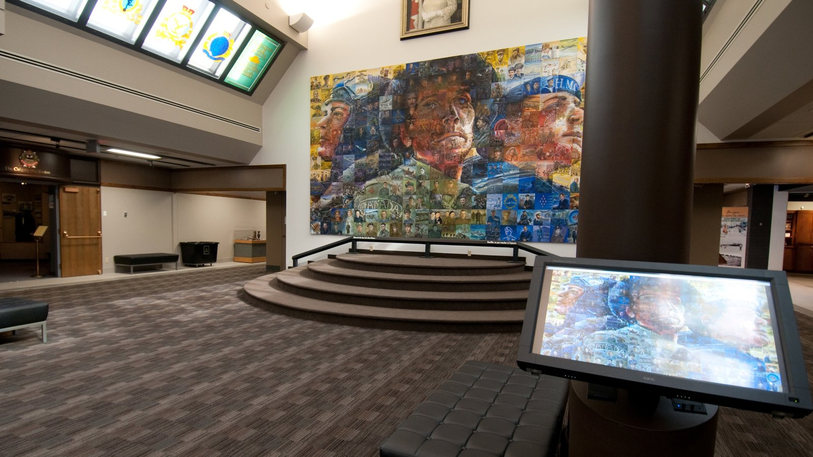 The Military Museums which includes interior views and art