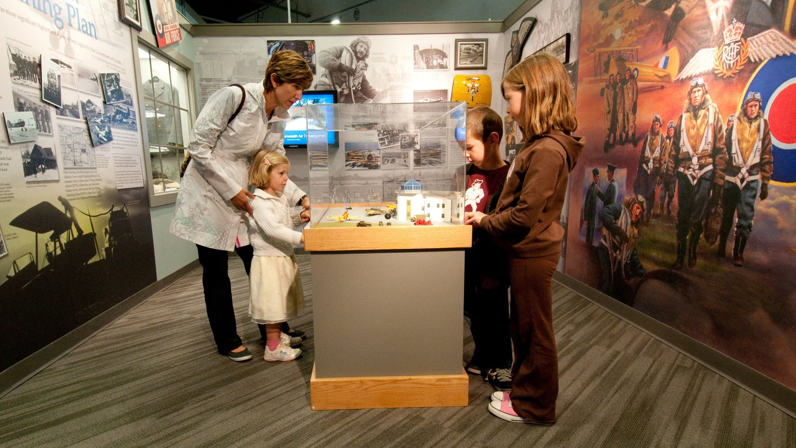 The Military Museums which includes interior views as well as children