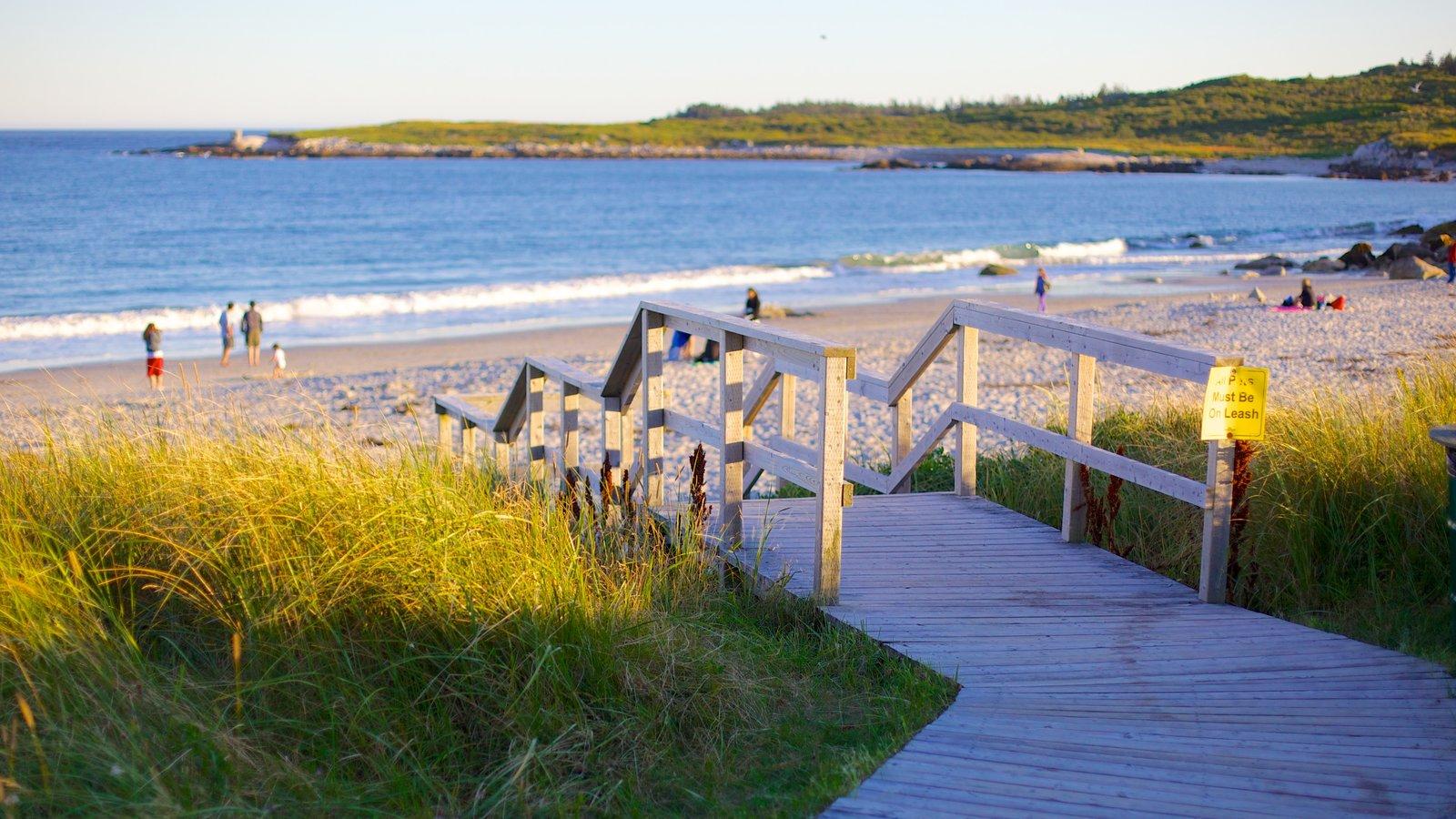 Playa Crystal Crescent mostrando una playa de arena y vistas generales de la costa