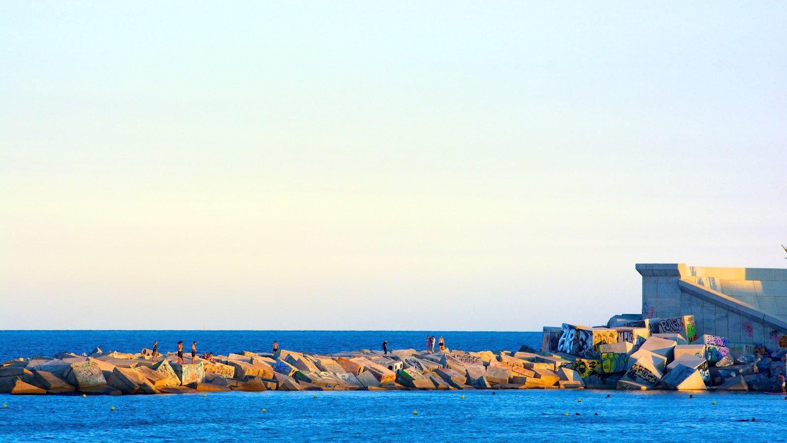 Barceloneta Beach featuring general coastal views and views