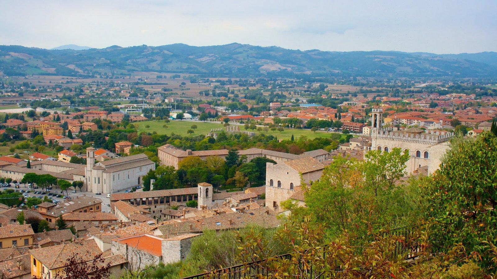 Gubbio which includes a city