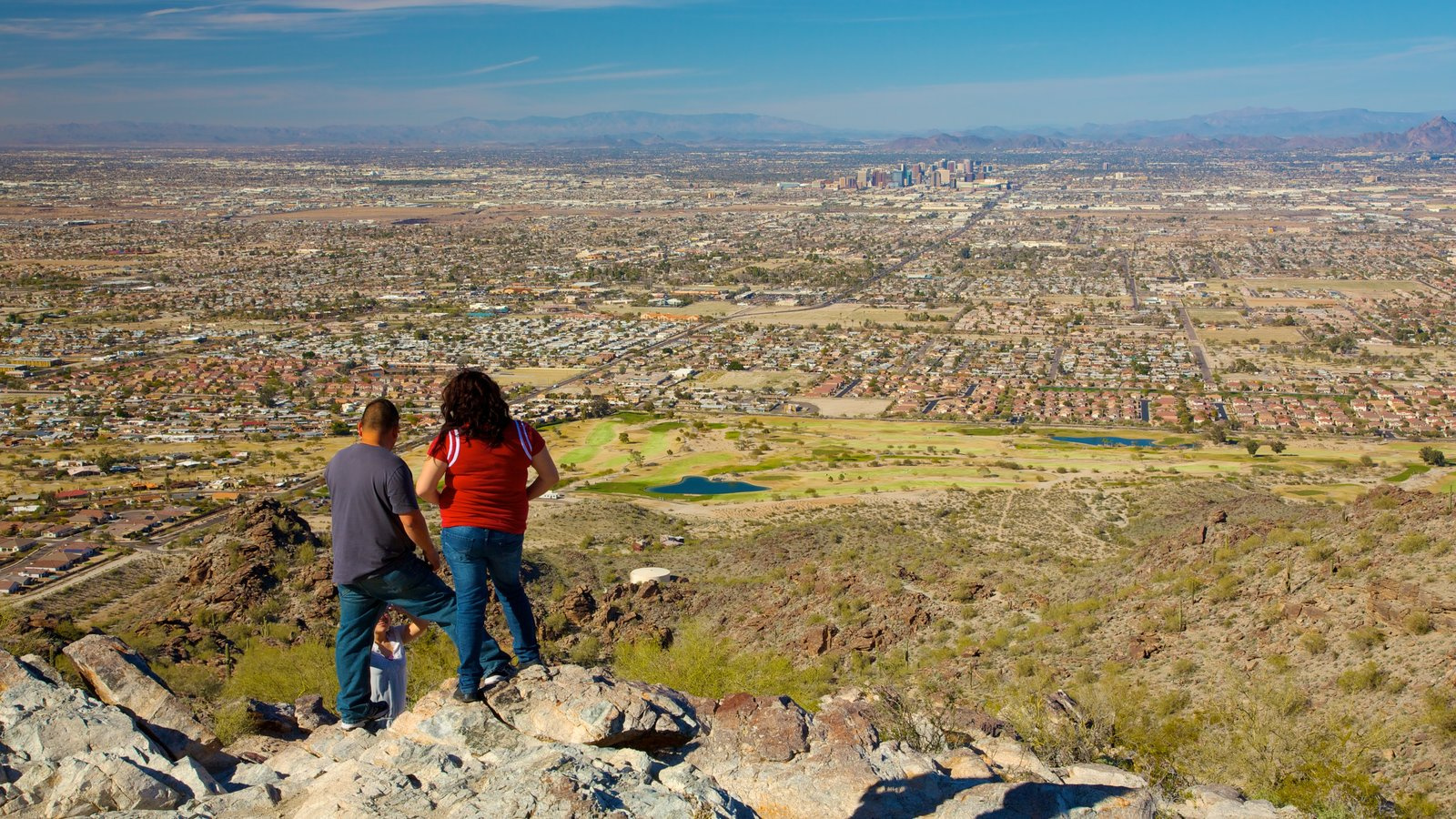 Phoenix which includes views, a city and hiking or walking