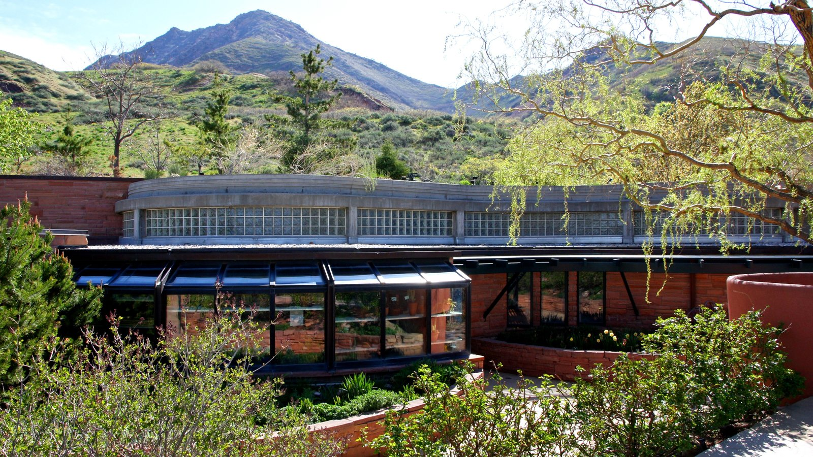 Red Butte Garden and Arboreteum featuring a garden and modern architecture