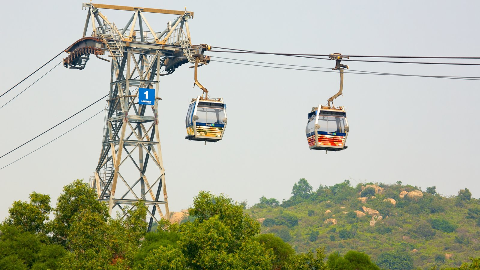Ngong Ping 360 showing a gondola