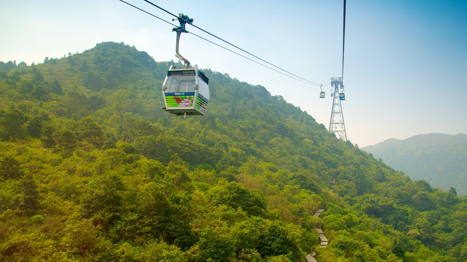 Ngong Ping 360 which includes forests and a gondola