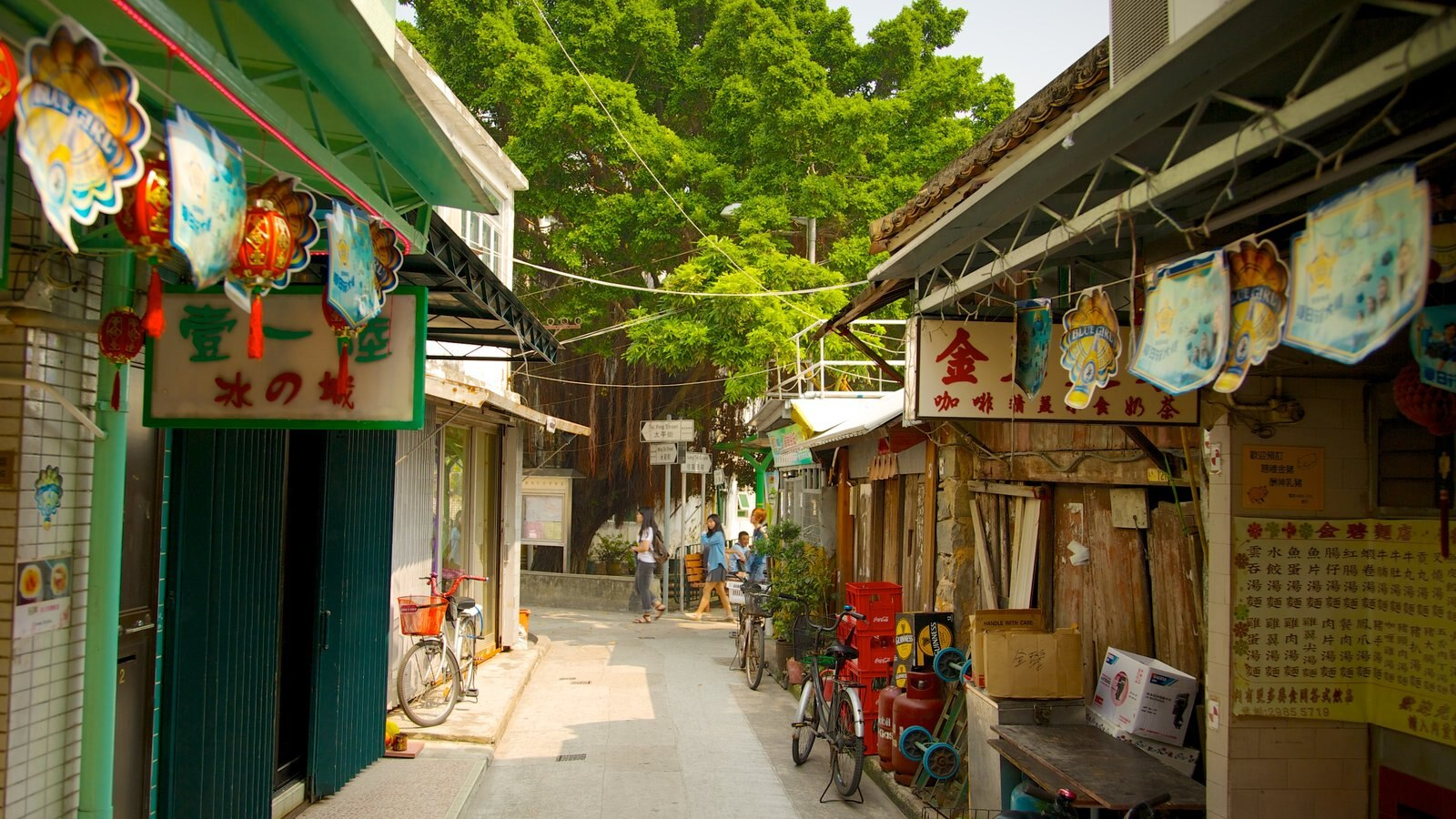 Tai O Fishing Village which includes a small town or village