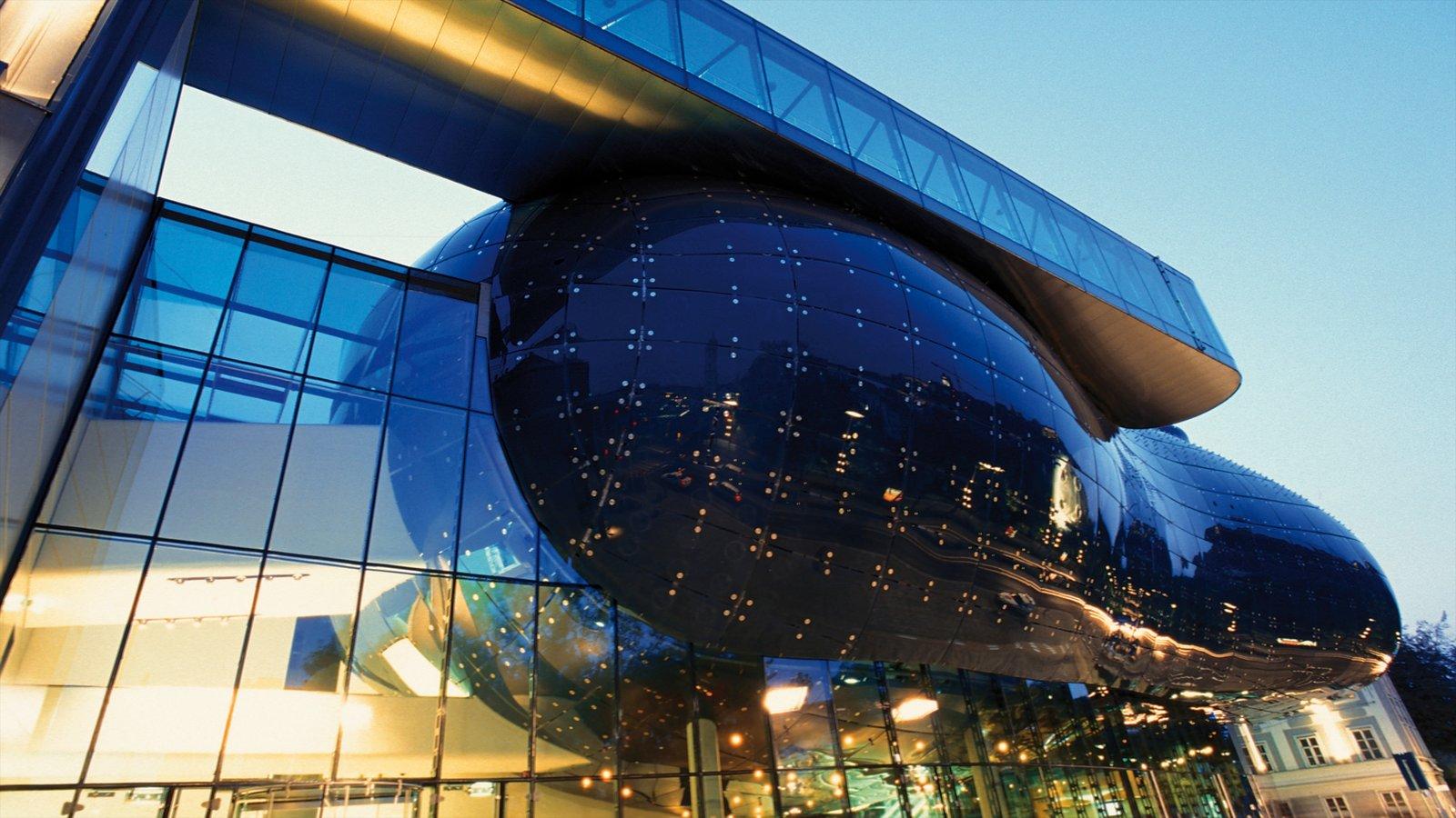 Museo de arte de Graz que incluye arquitectura moderna