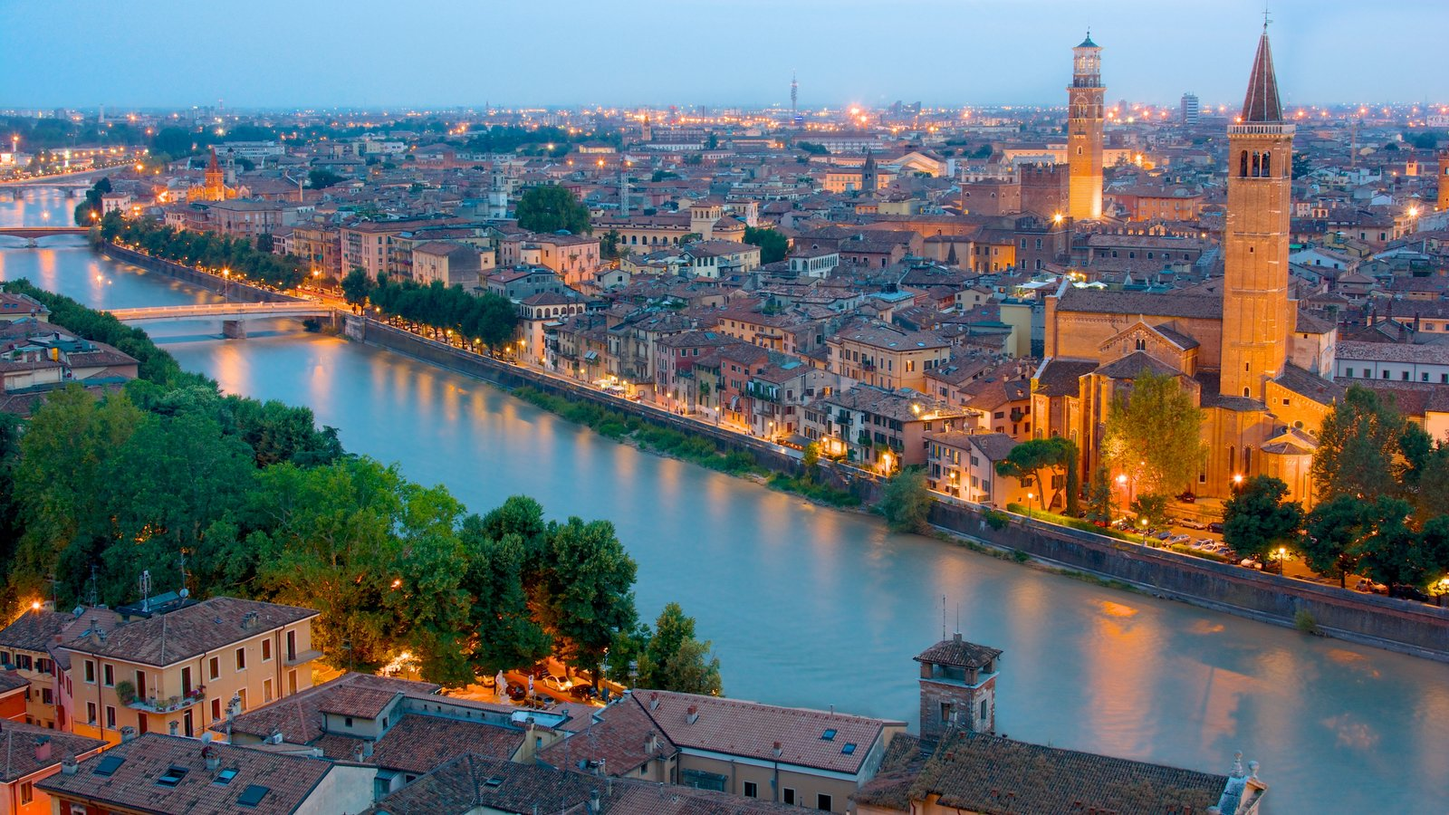 Verona showing heritage architecture, a river or creek and views