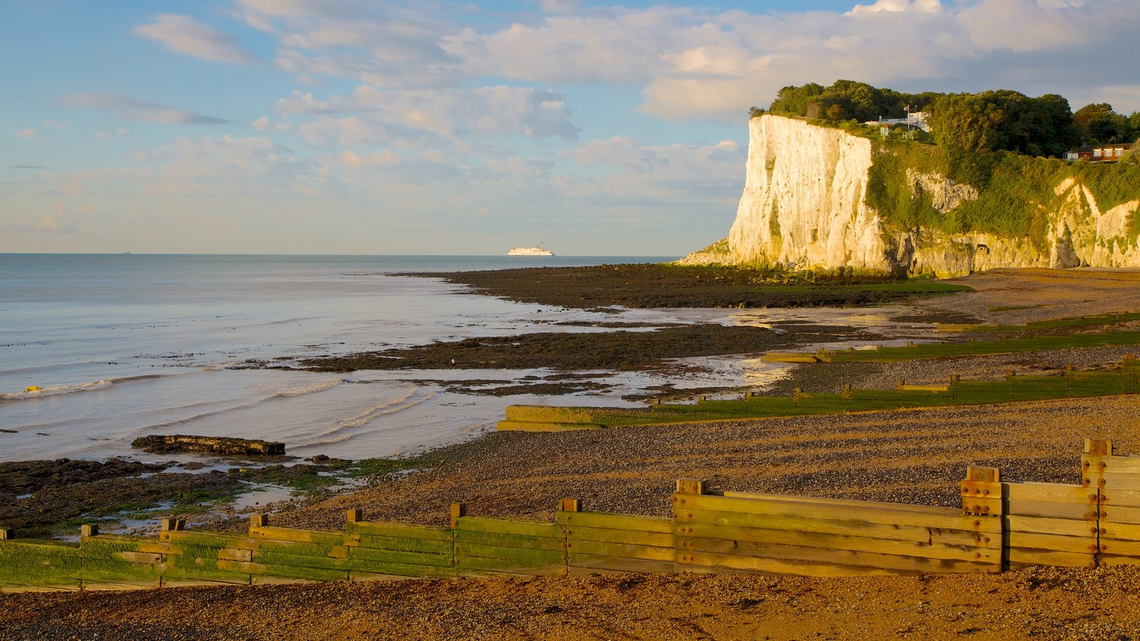 White Cliffs of Dover featuring landscape views and a pebble beach