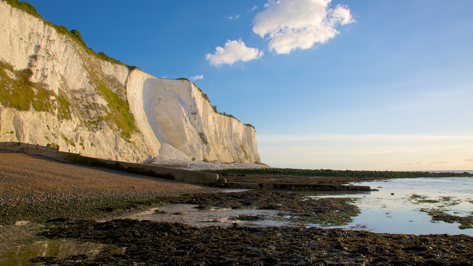 White Cliffs of Dover showing landscape views and a pebble beach