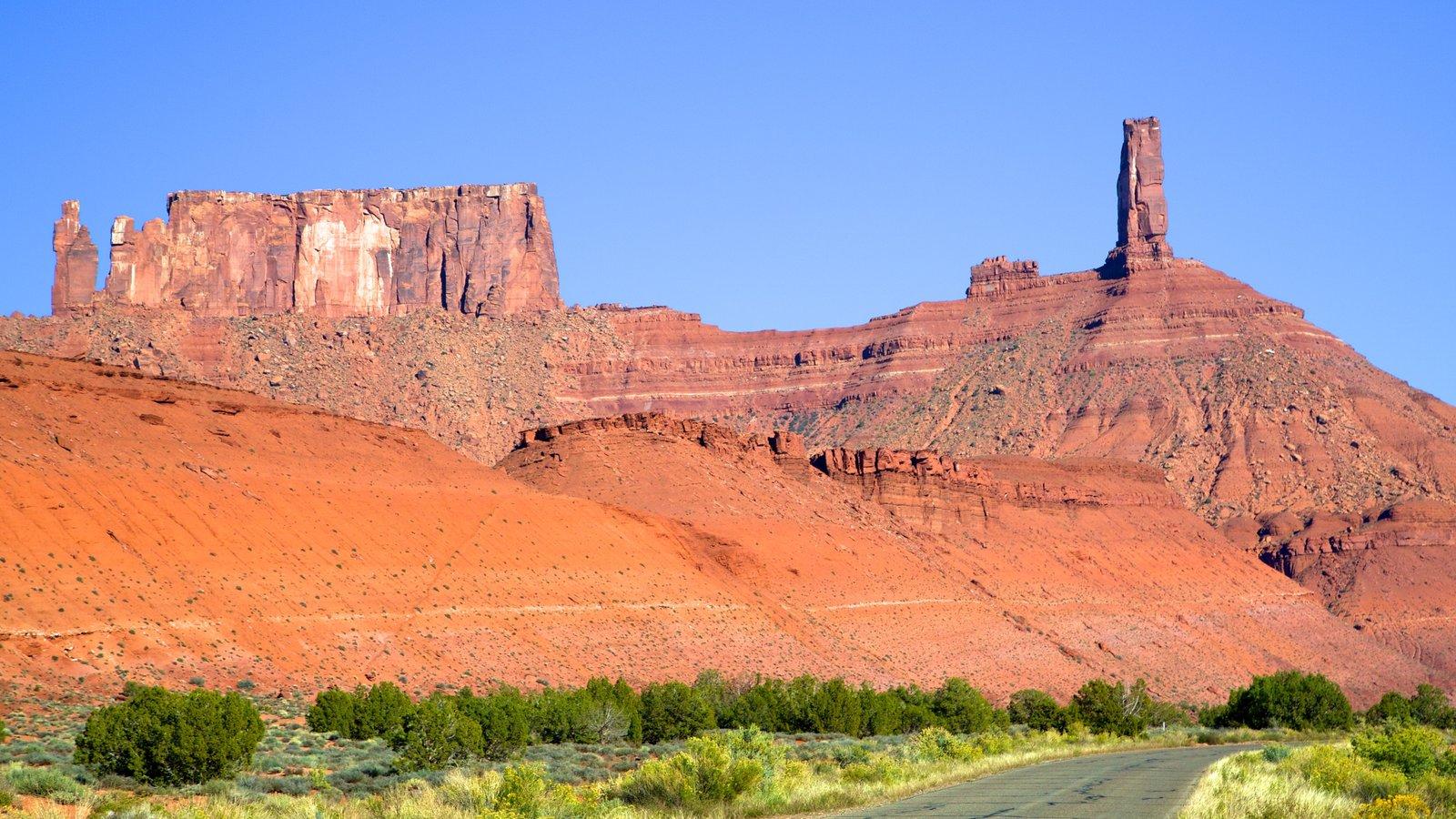 Moab que incluye escenas tranquilas y vistas de paisajes