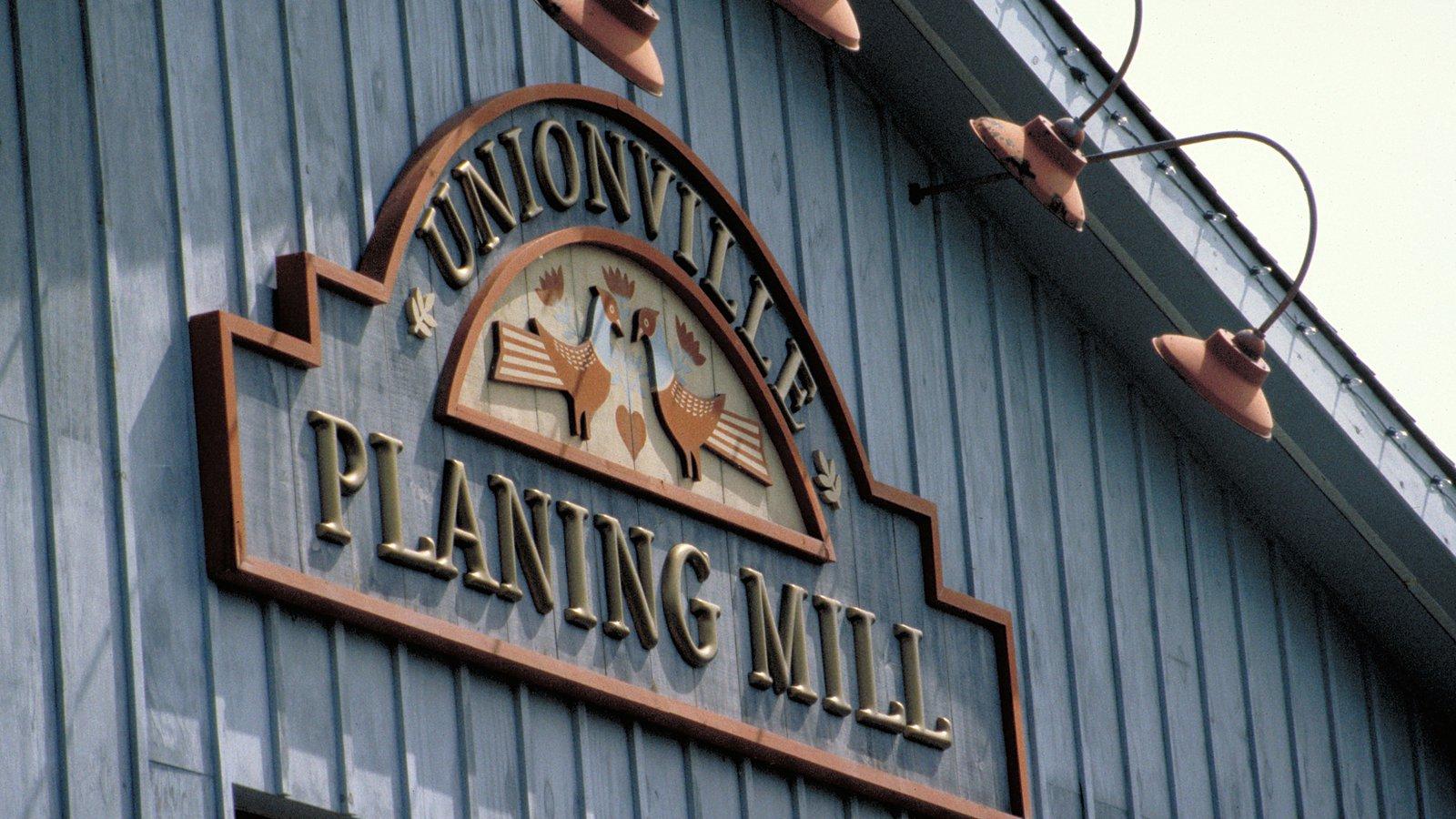 Unionville featuring signage