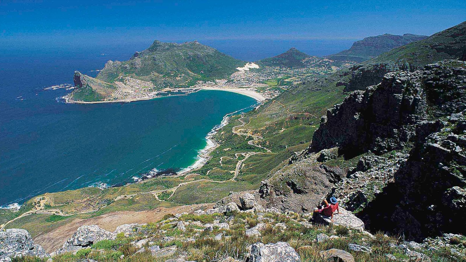 Hout Bay Beach showing landscape views, general coastal views and mountains