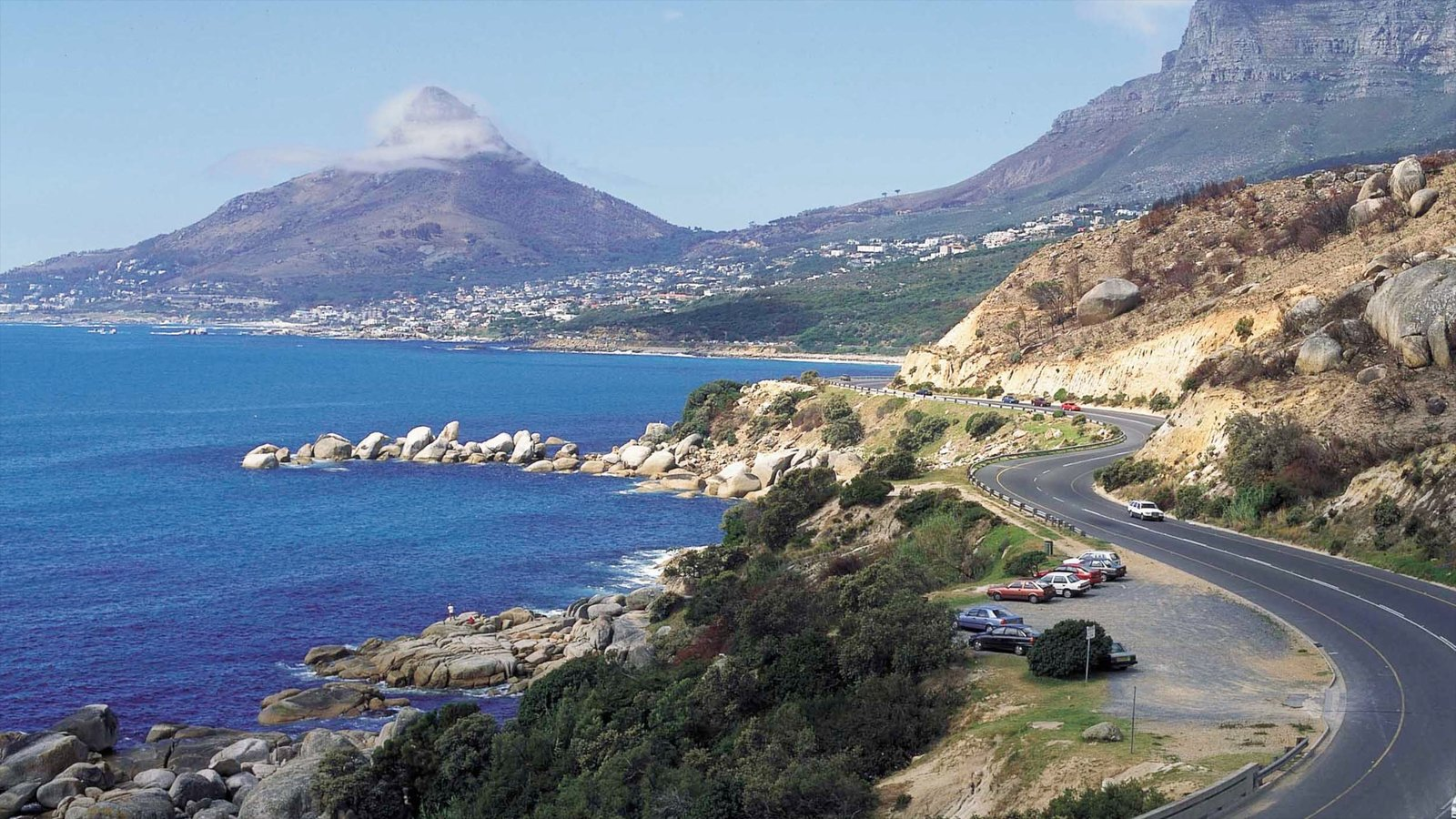 Hout Bay Beach featuring mountains, general coastal views and landscape views