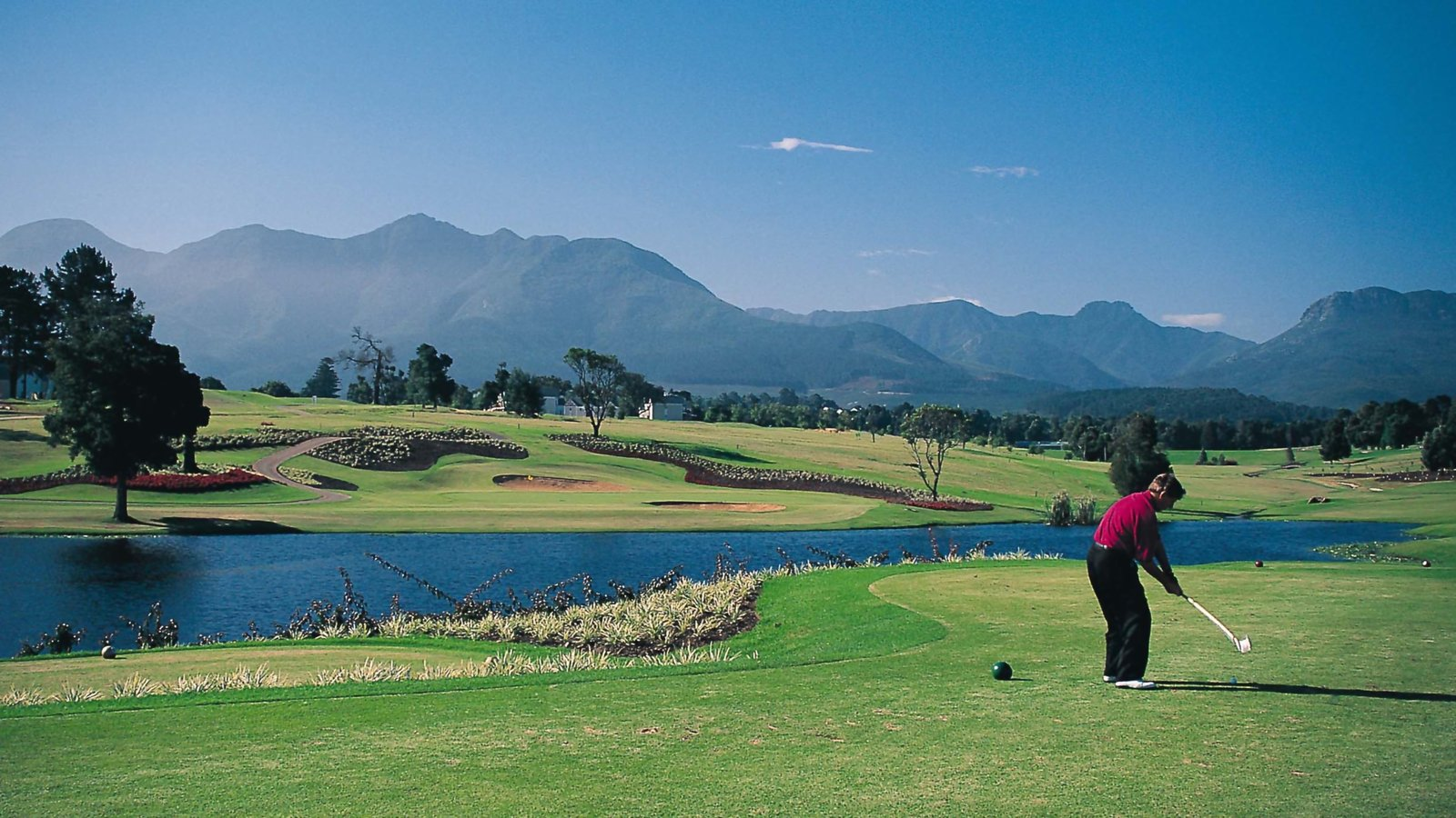 Somerset West showing landscape views, golf and mountains