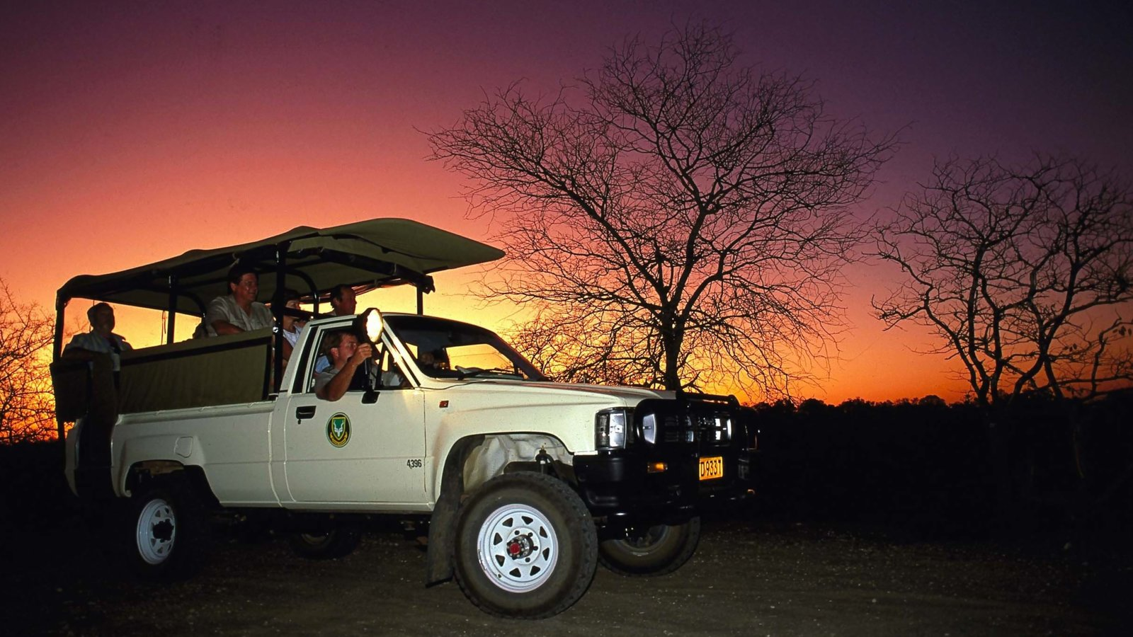 Kruger National Park showing a sunset, safari adventures and touring