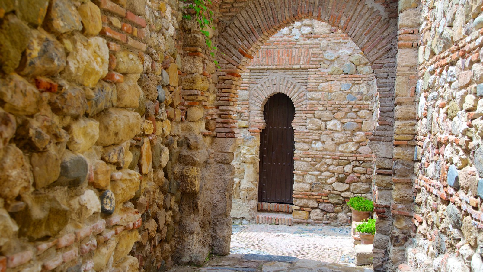 Alcazaba which includes a castle and heritage architecture