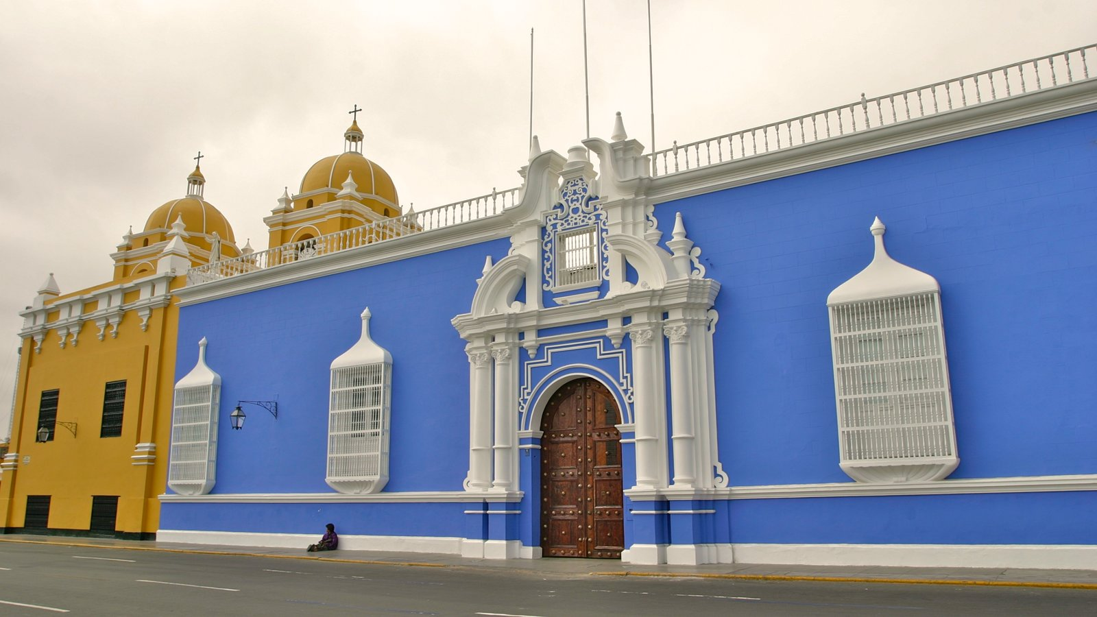 Trujillo featuring a church or cathedral and heritage architecture