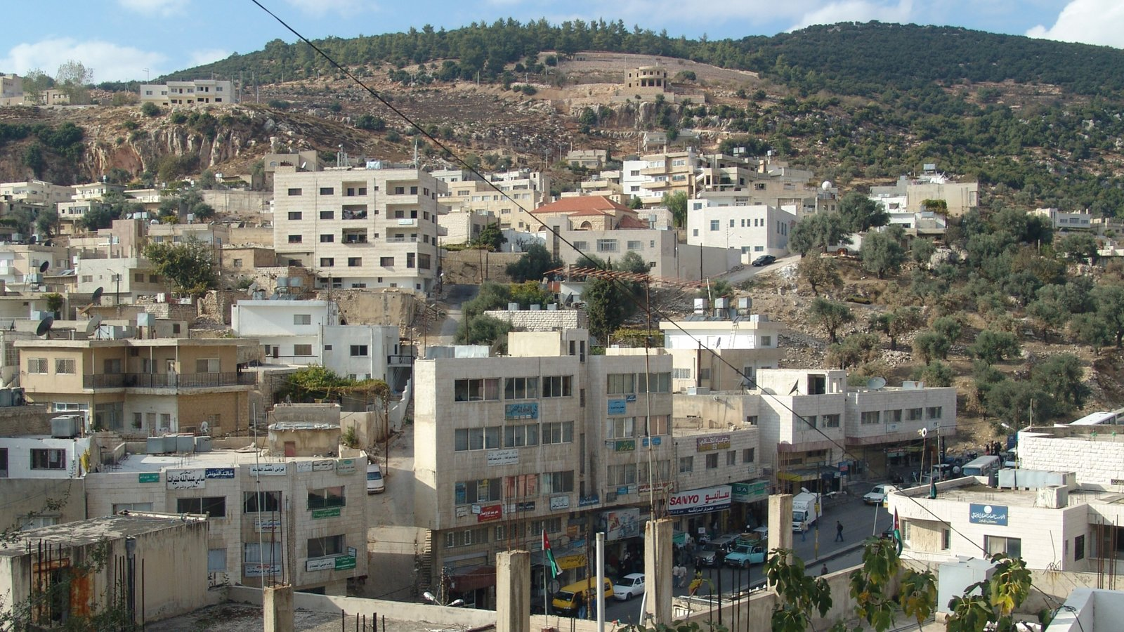 Ajloun featuring a city