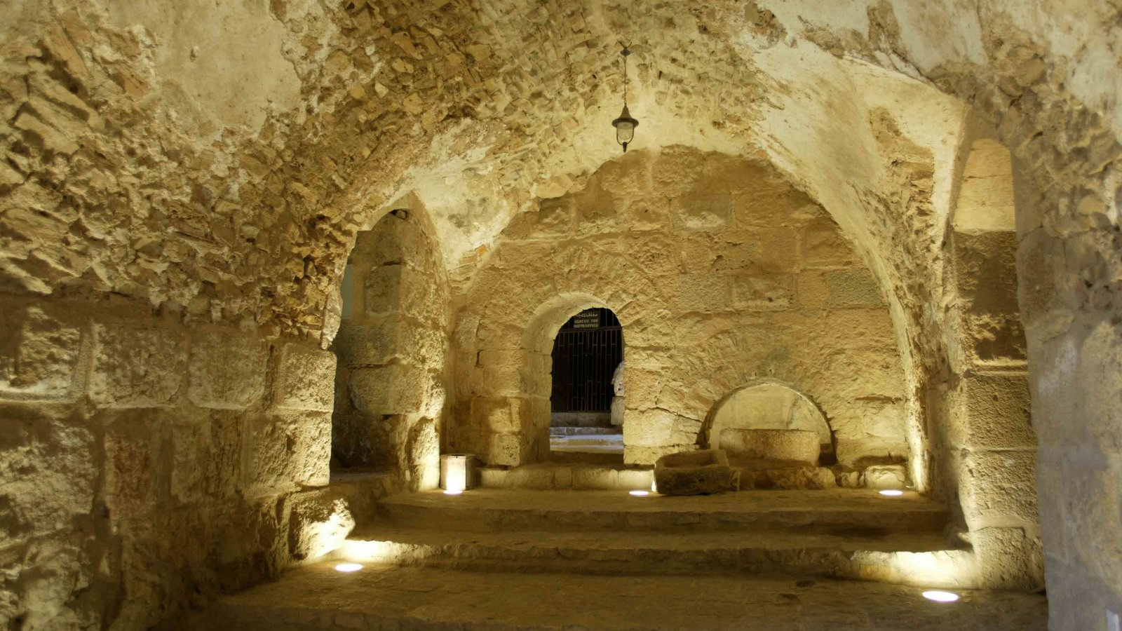 Ajloun Castle featuring heritage architecture and interior views