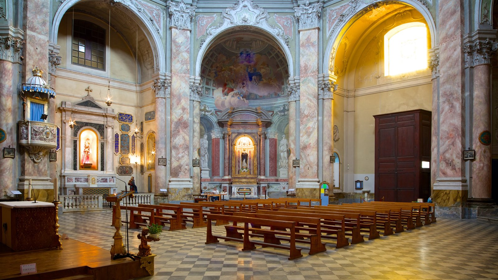 Chiesa di Santa Caterina featuring a church or cathedral, heritage elements and interior views