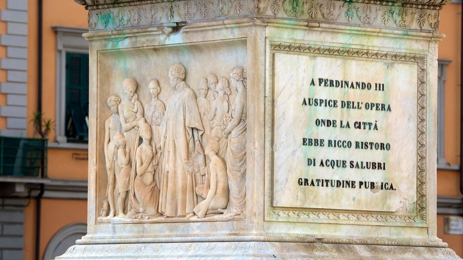 Piazza della Repubblica featuring signage, a monument and art