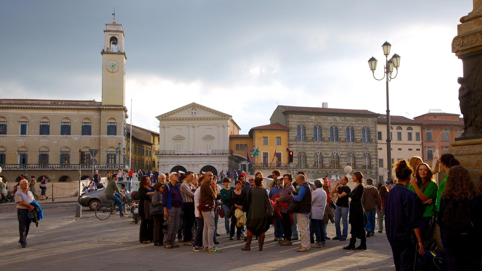 Palazzo Pretorio which includes a city, a square or plaza and heritage architecture