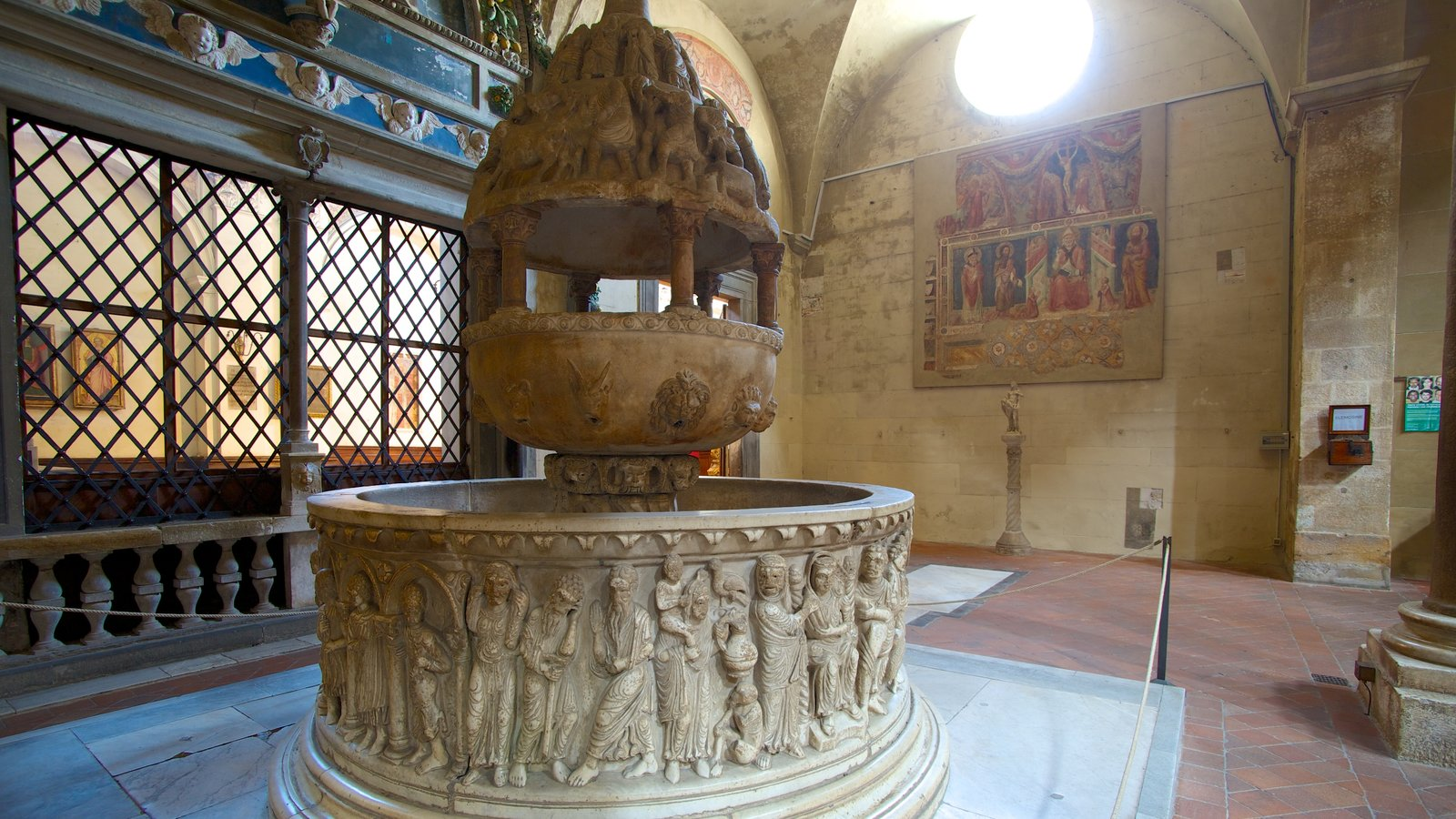 Basilica di San Frediano featuring a church or cathedral, religious elements and interior views