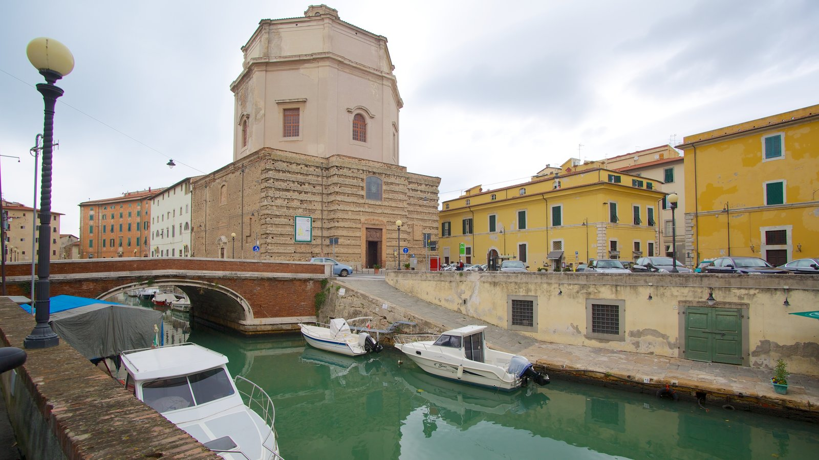 Chiesa di Santa Caterina featuring boating, heritage architecture and a river or creek