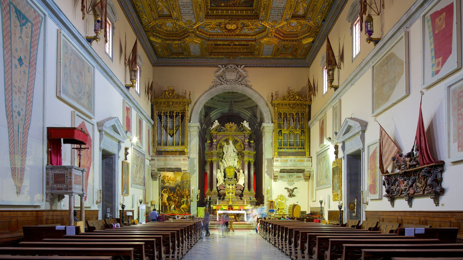 Santo Stefano dei Cavalieri showing religious elements, a church or cathedral and interior views