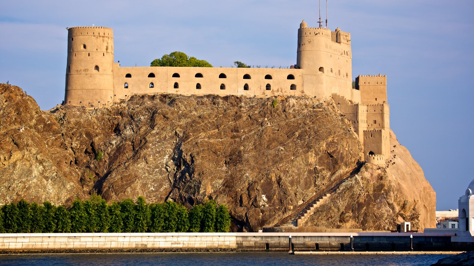 Oman which includes a castle, heritage elements and heritage architecture