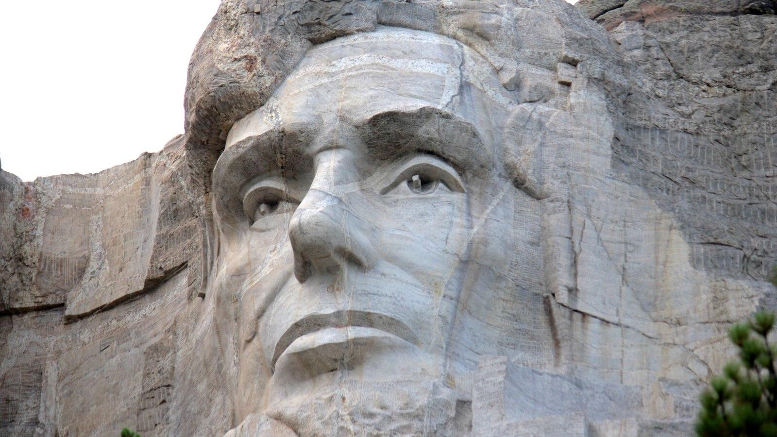 Mount Rushmore que inclui arte ao ar livre e arte