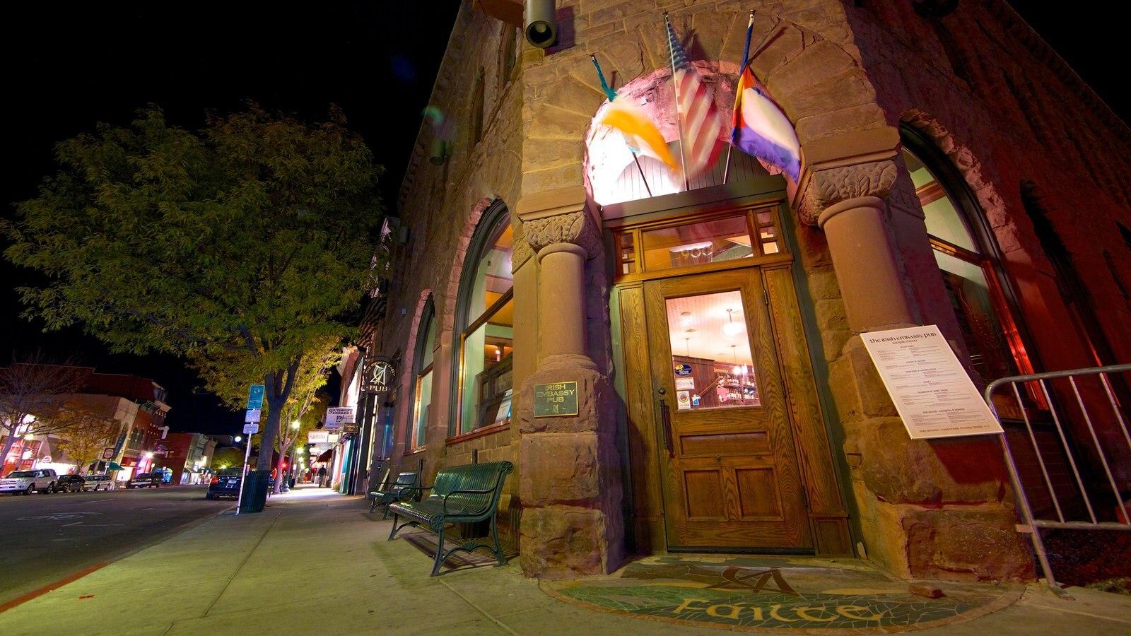 Purgatory - Durango que inclui arquitetura de patrimônio e cenas noturnas