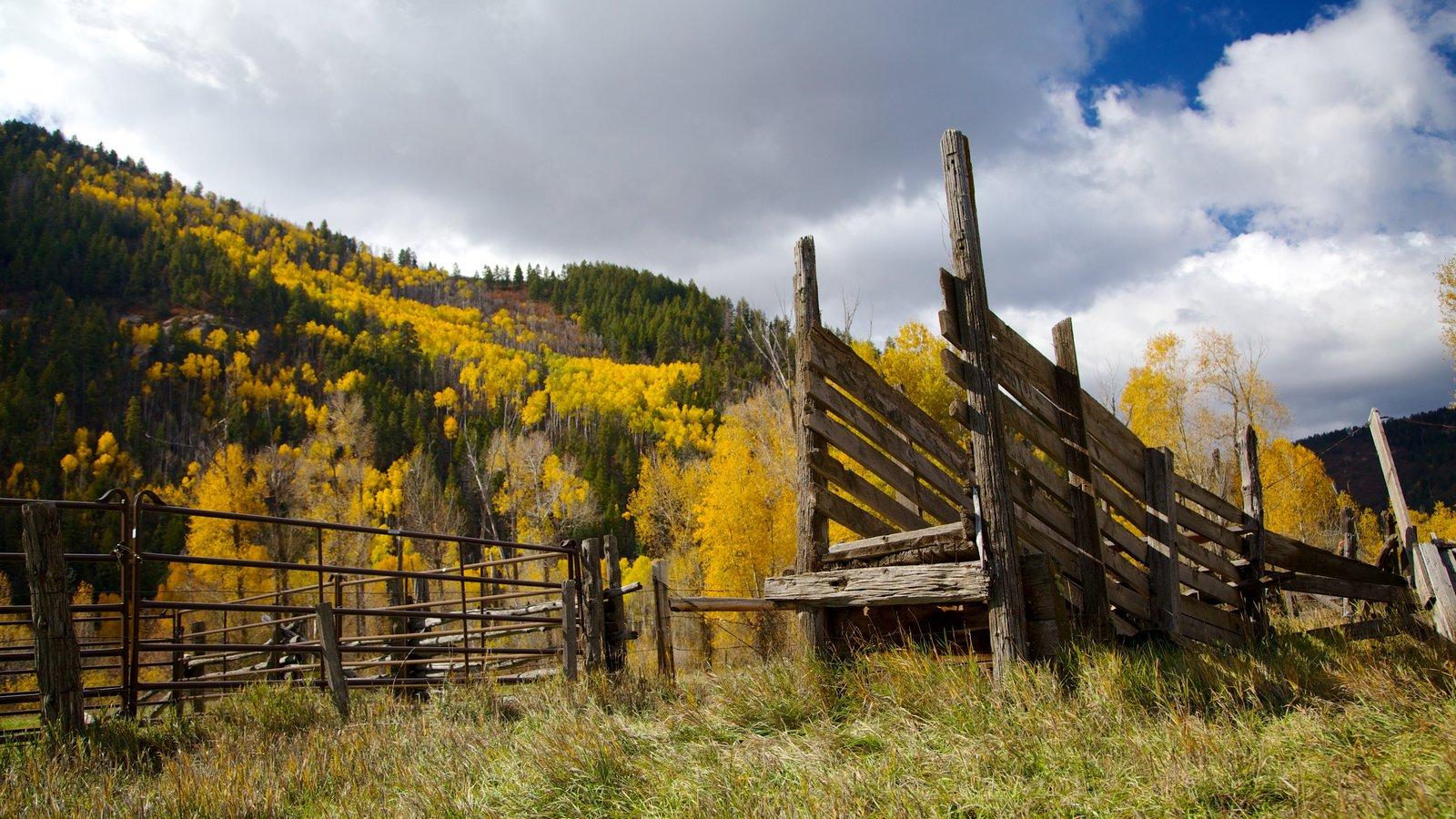 Purgatory - Durango caracterizando cores do outono, montanhas e cenas tranquilas