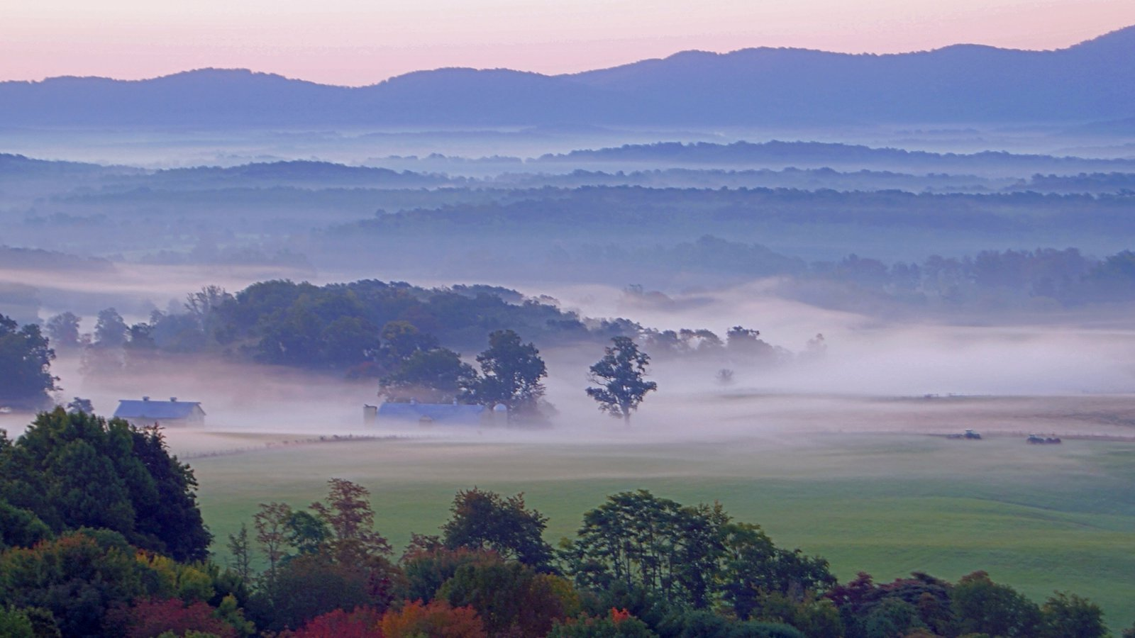 Virginia featuring mountains, tranquil scenes and mist or fog