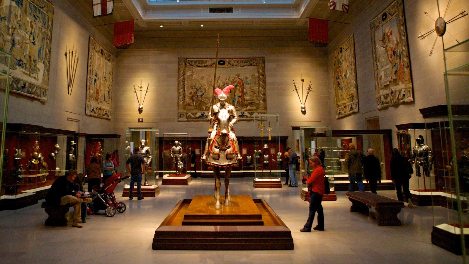 Cleveland Museum of Art caracterizando vistas internas e arte