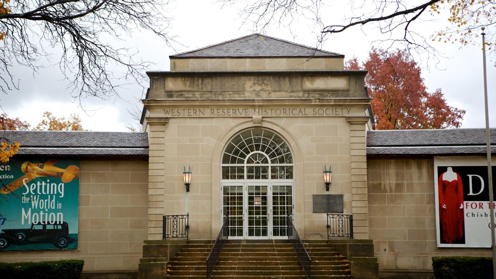 Western Reserve Historical Society que inclui uma cidade e arquitetura de patrimônio
