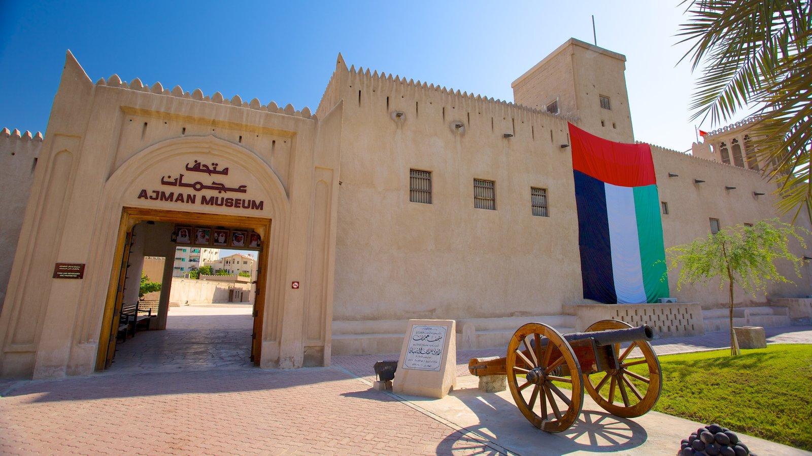 Ajman que inclui arquitetura de patrimônio