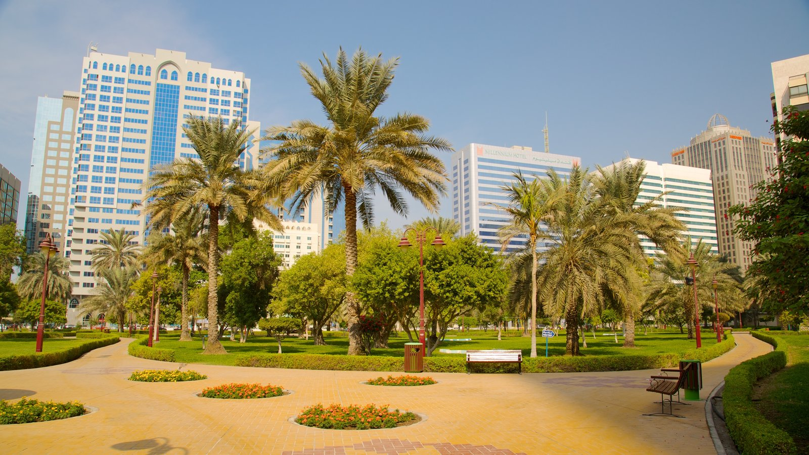 Capital Garden which includes a city and a park