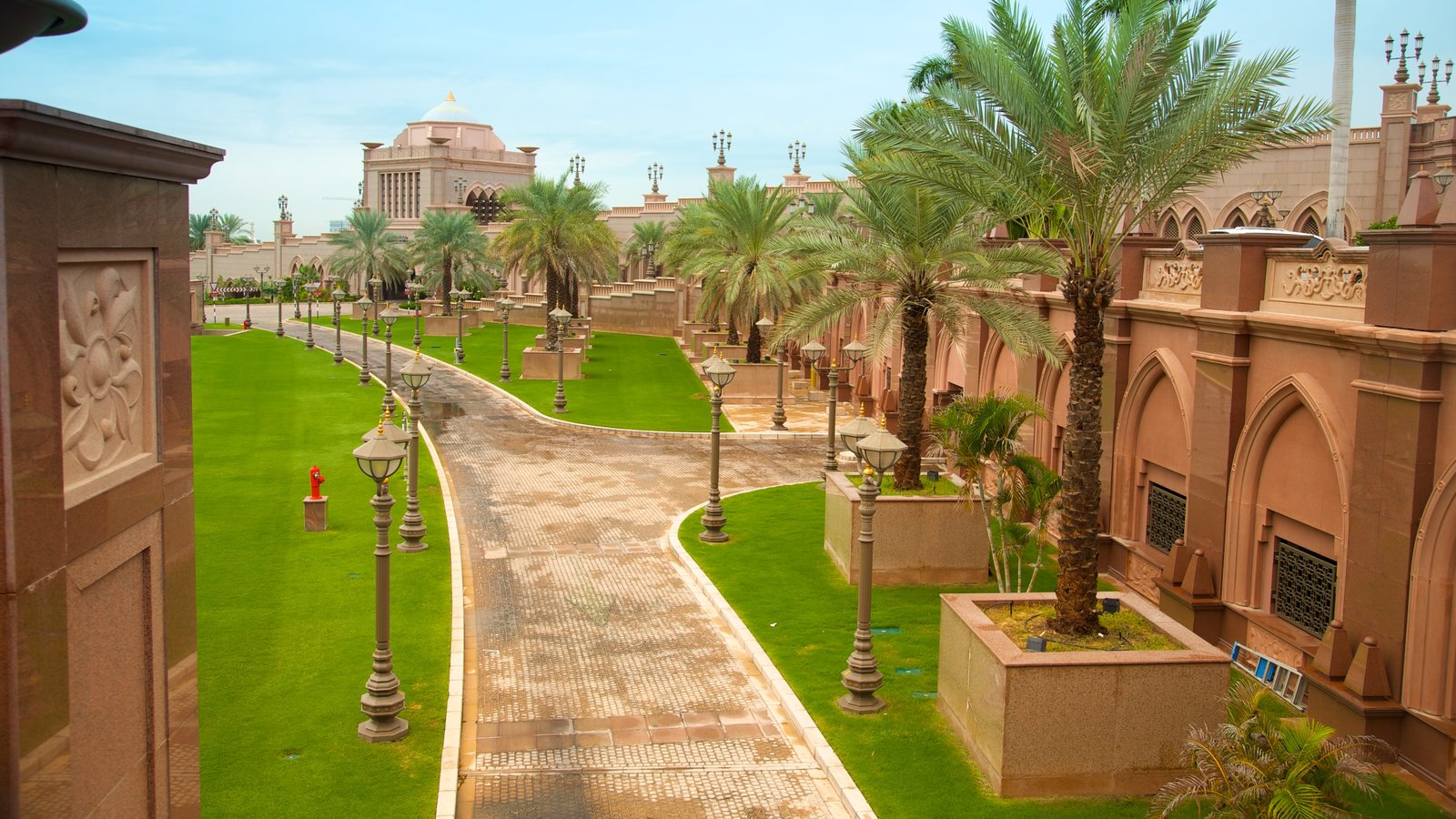 Abu Dhabi Emirate which includes a park and chateau or palace