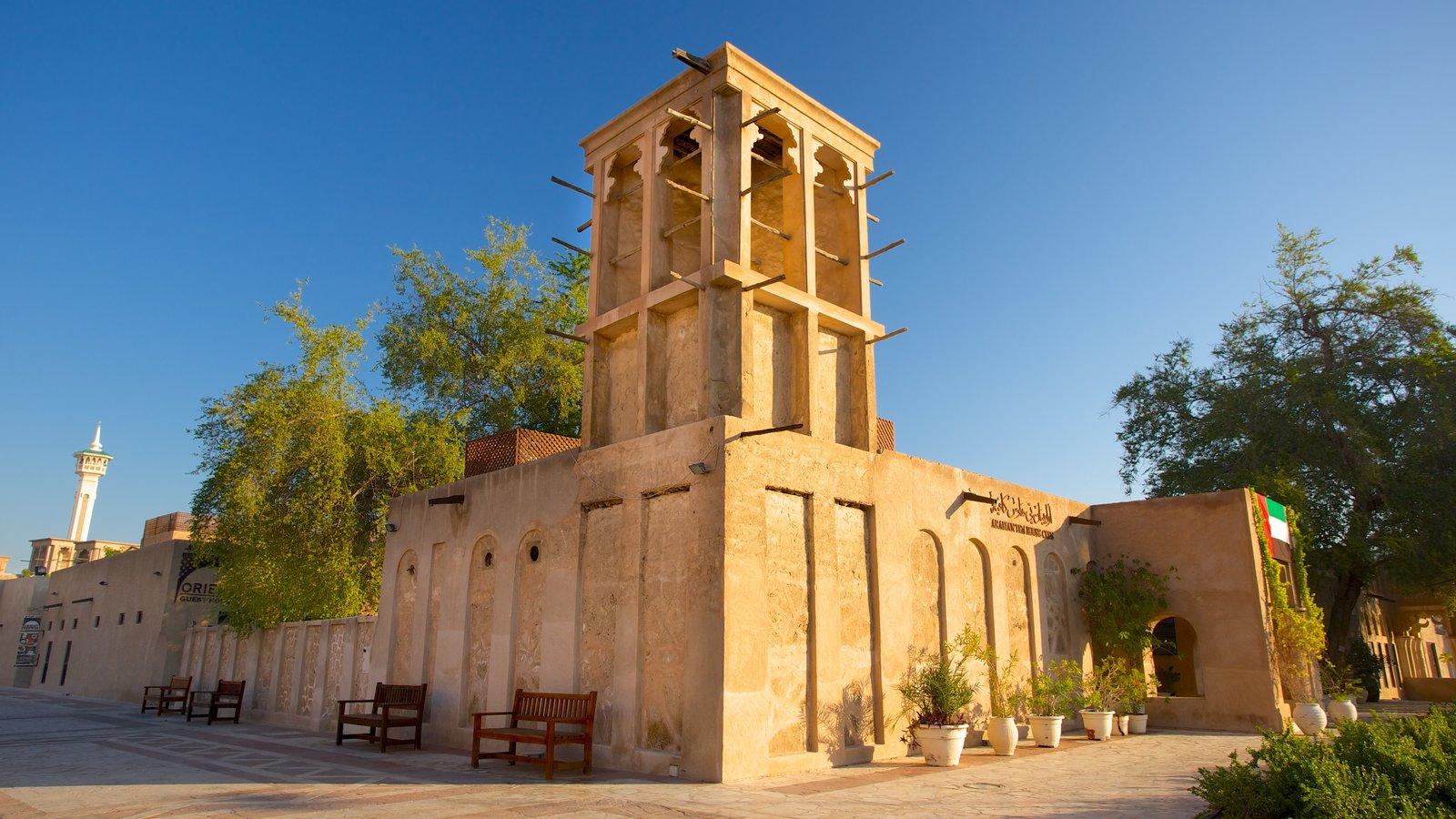 Dubai Emirate caracterizando arquitetura de patrimônio
