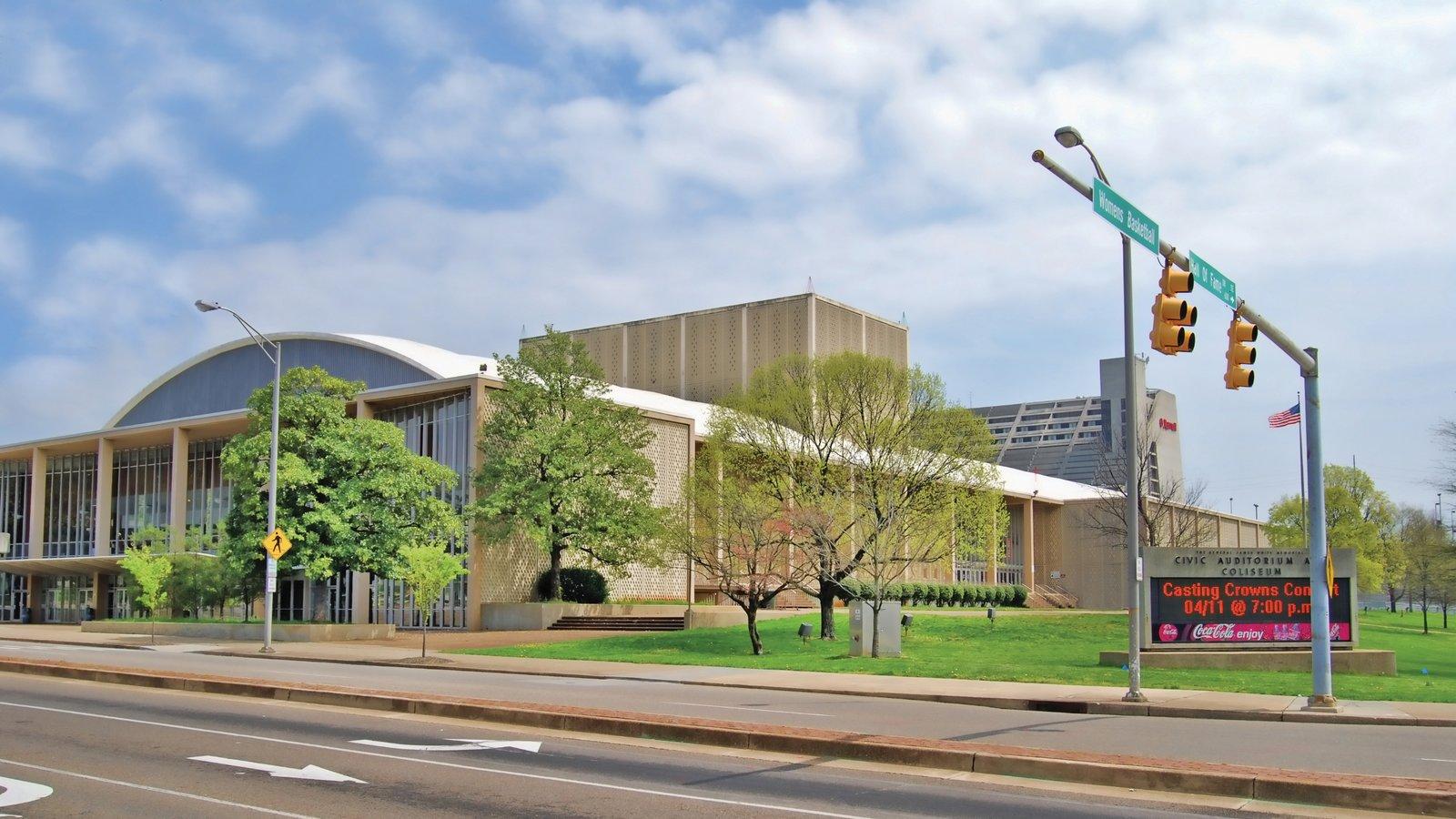 Knoxville que inclui uma cidade e arquitetura moderna