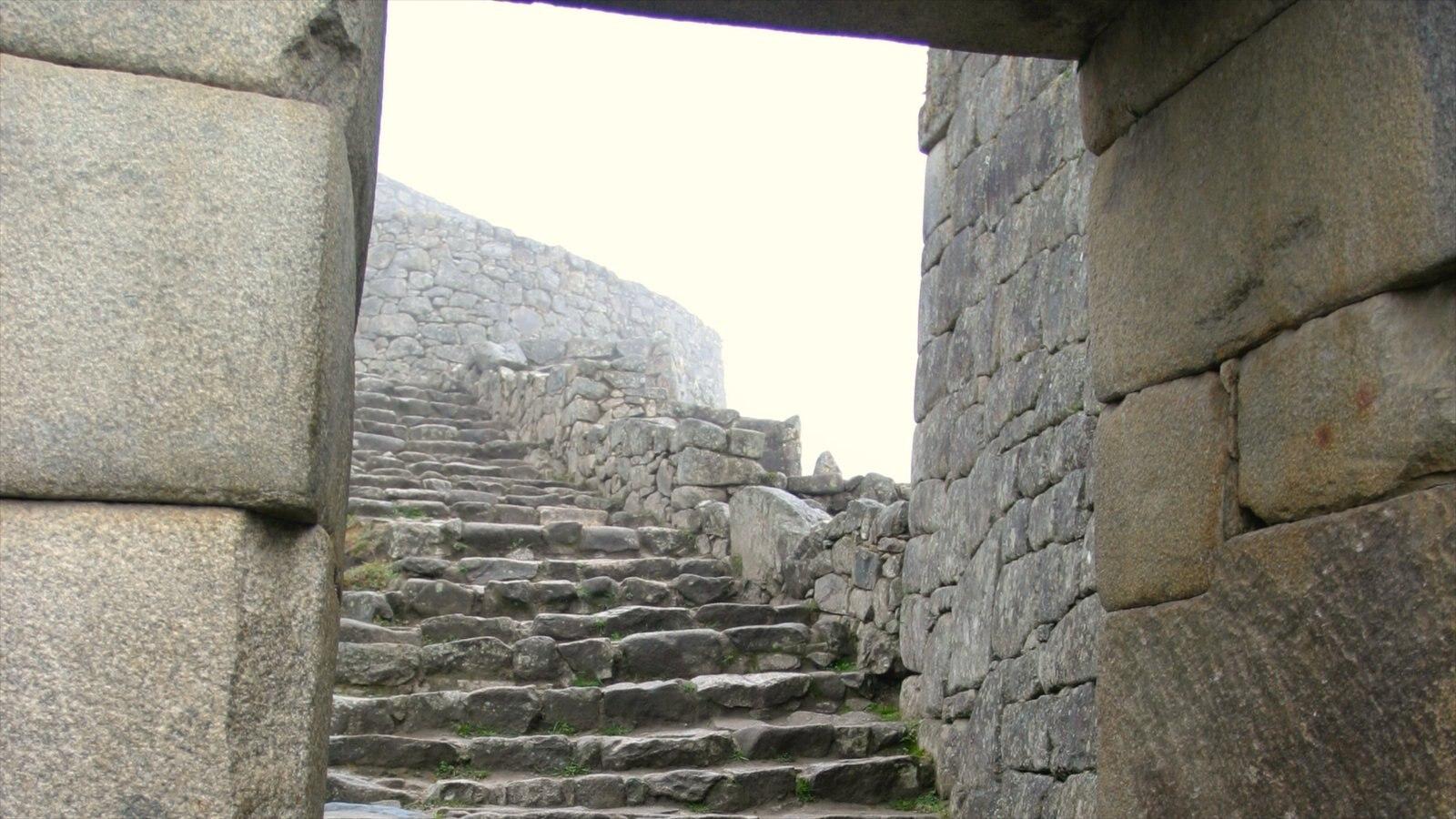 Machu Picchu caracterizando uma ruína
