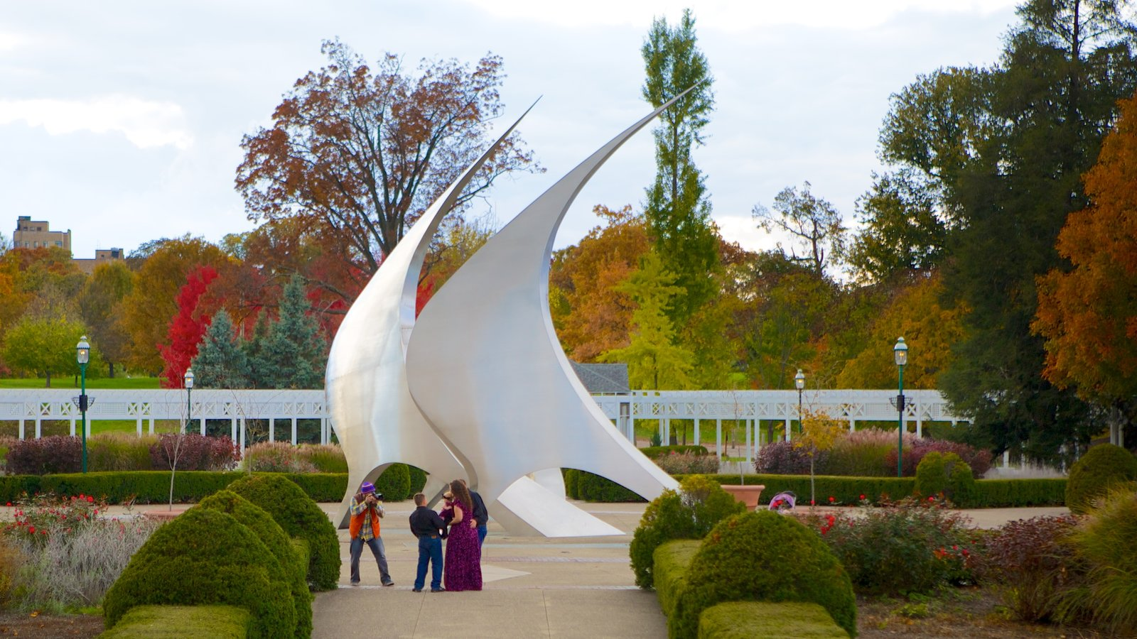 Franklin Park Conservatory And Botanical Gardens Featuring A Park And  Outdoor Art As Well As A
