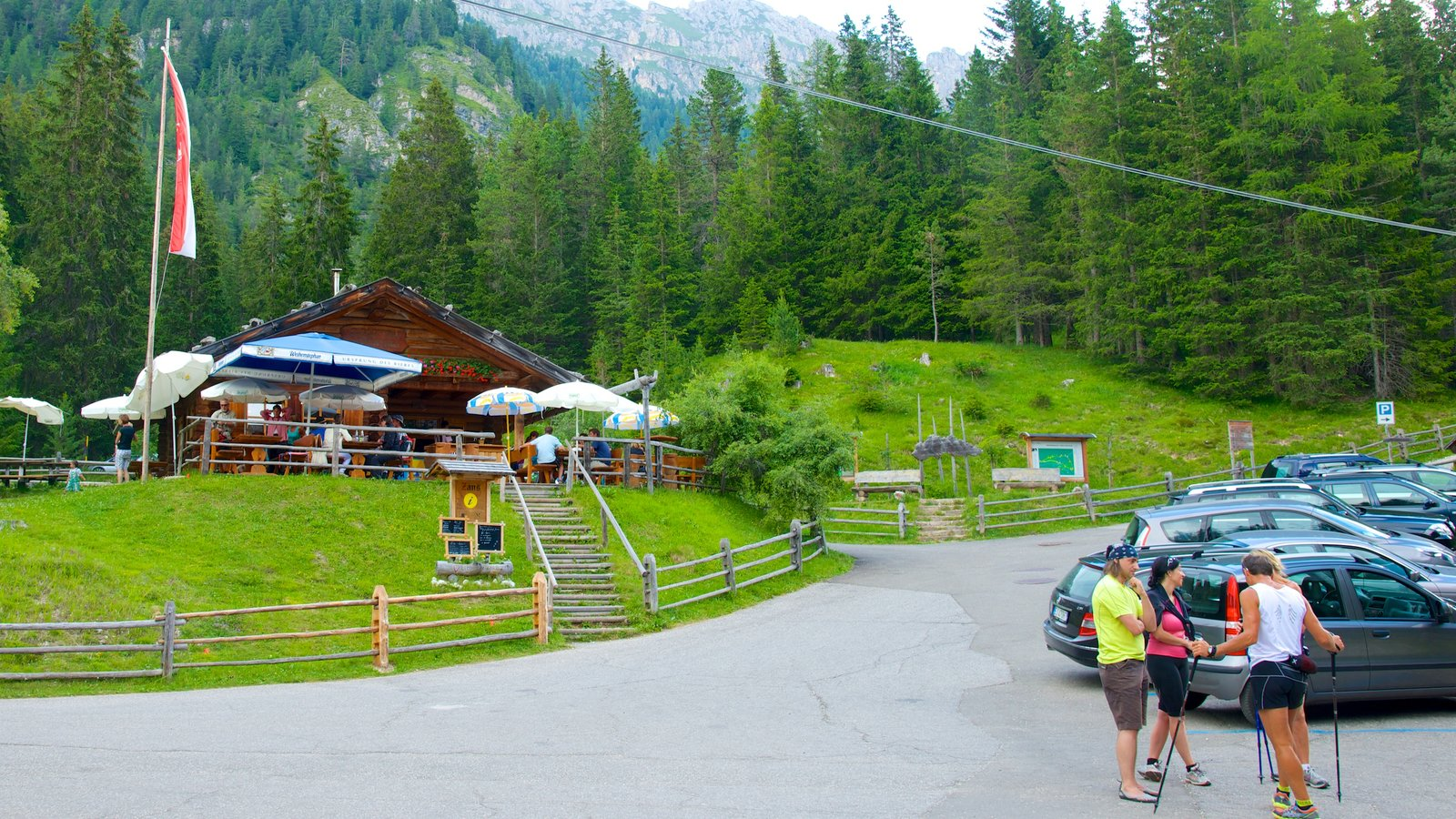 Funes which includes forests as well as a small group of people